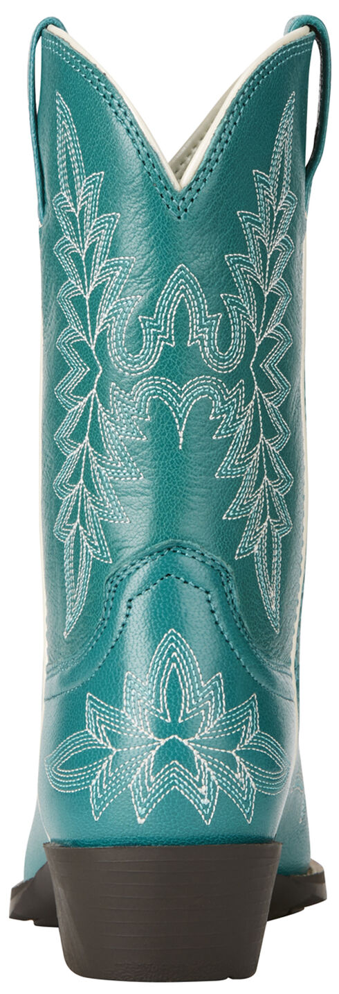Ariat Girl's Turquoise Brooklyn Boots - Snip Toe, Turquoise, hi-res