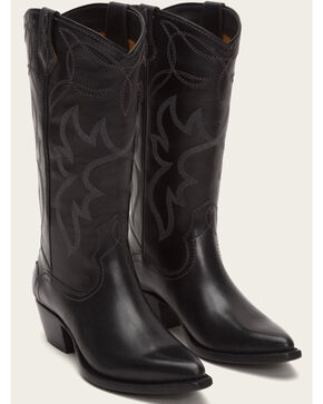 Frye Women's Black Shane Embroidered Tall Boots - Pointed Toe , Black, hi-res