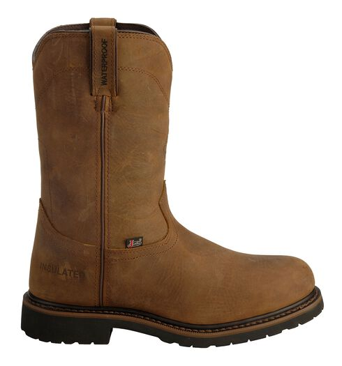 Justin Wyoming Insulated Waterproof Work Boots - Steel Toe, Brown, hi-res