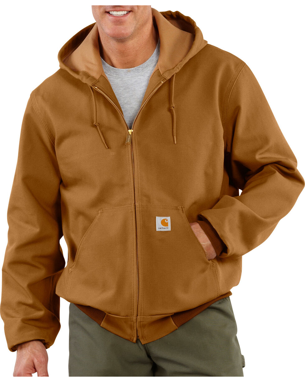 Carhartt Men's Brown Thermal Lined Duck Active Jacket , Brown, hi-res