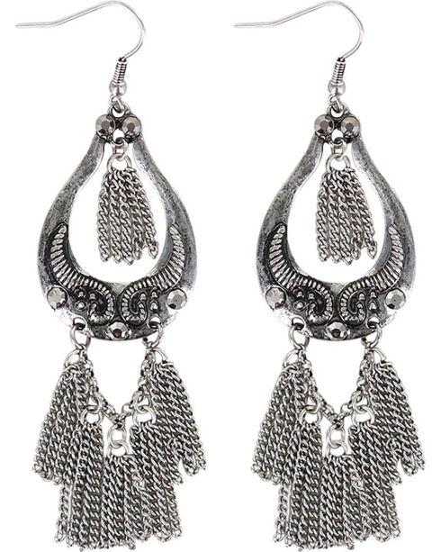 Shyanne Women's Silver Dangle Chain Earrings , Silver, hi-res