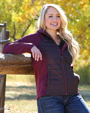 Cinch Women's Purple Tech Hooded Jacket , Purple, hi-res