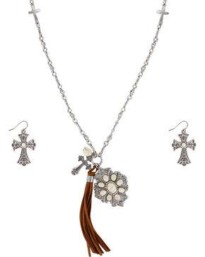 Shyanne Women's Faith Jewelry Set , Silver, hi-res