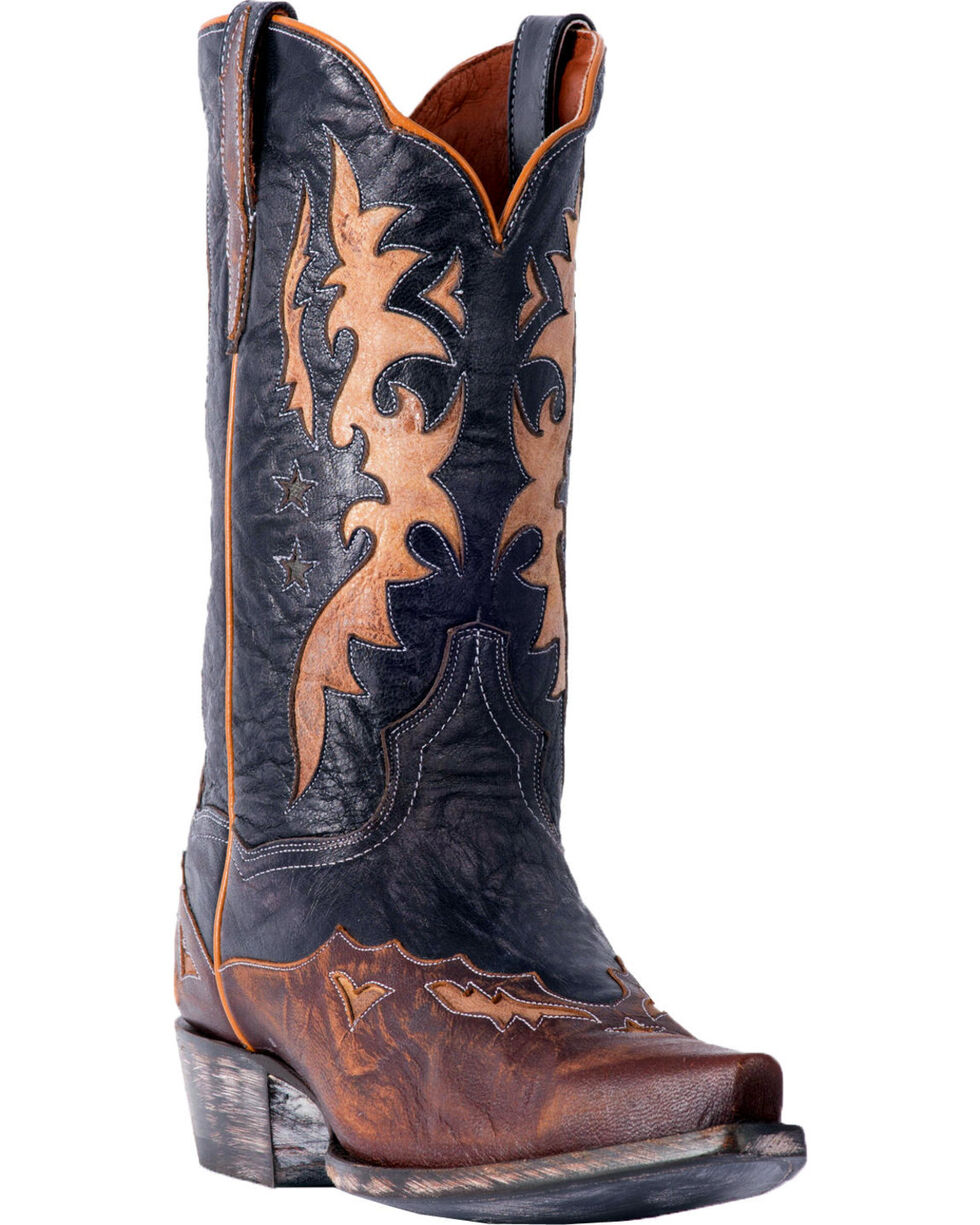 Dan Post Men's Kellen Western Boots - Snip Toe, Chocolate, hi-res