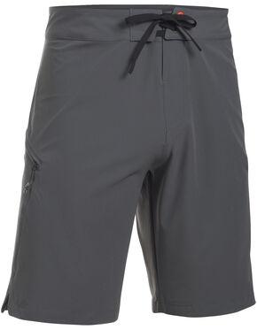 Under Armour Men's Light Grey Solid Board Shorts, Dark Grey, hi-res