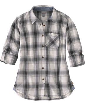 Carhartt Women's Dodson Plaid Long Sleeve Shirt, Black, hi-res