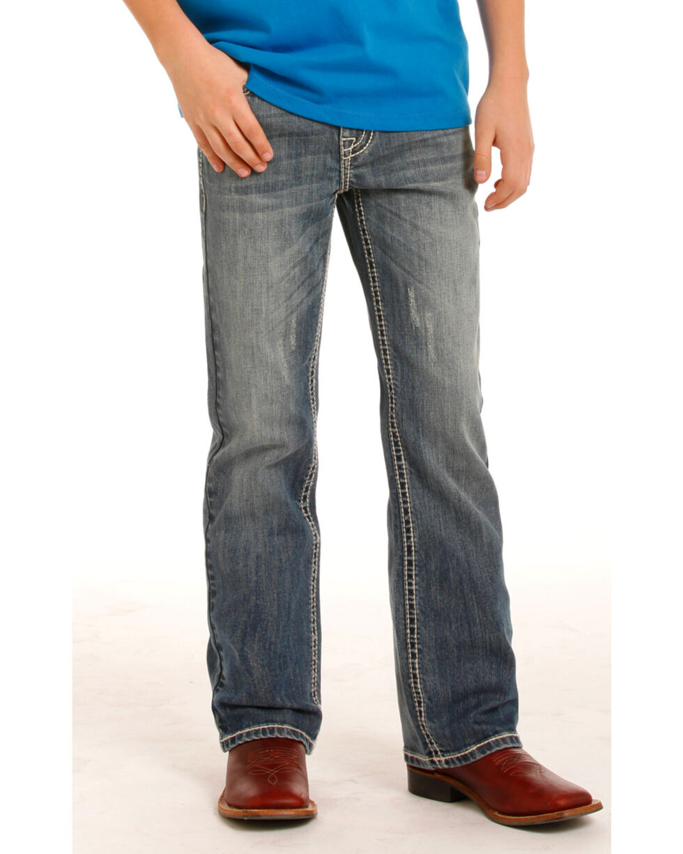 Rock & Roll Cowboy Boys' (7-20) Regular Fit Jeans - Boot Cut , Indigo, hi-res