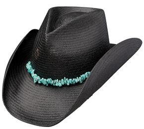 394eea1fd78 Charlie 1 Horse Tulum Black Straw Western Hat