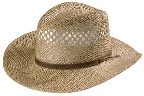 Stetson Dove Mountain UV Protection Seagrass Straw Hat, Natural, hi-res