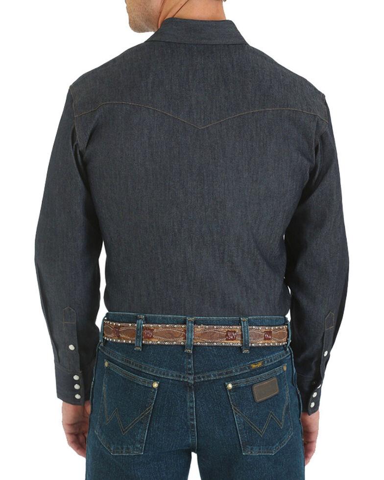 ff1a1609 Zoomed Image Wrangler Men's Denim Advanced Comfort Work Shirt - Tall, Blue,  hi-res