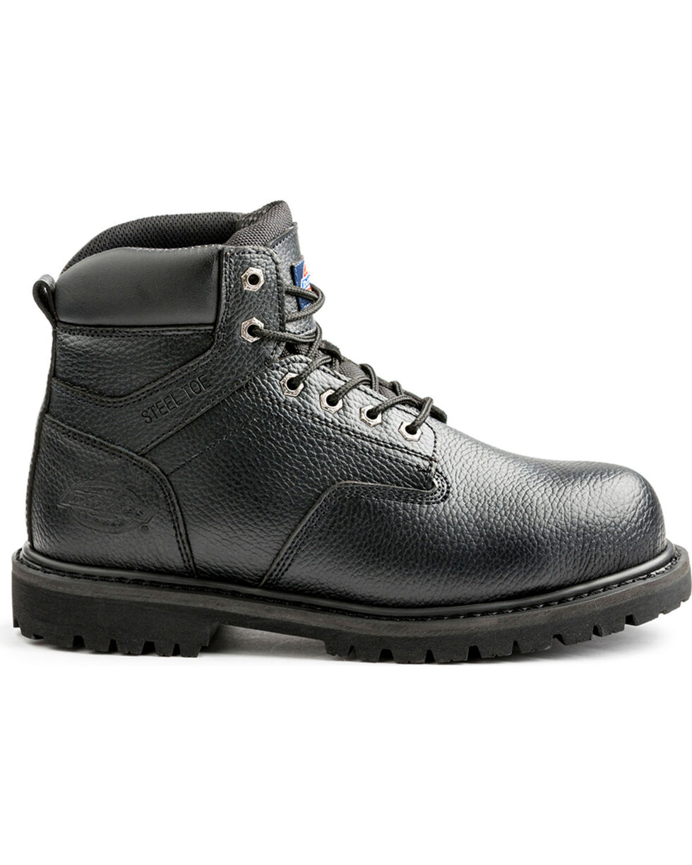 Dickies Men's Black Prowler Work Boots - Steel Toe, Black, hi-res