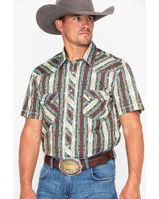 9569d9f333686 Rock   Roll Cowboy Poplin Aztec Print Short Sleeve Shirt