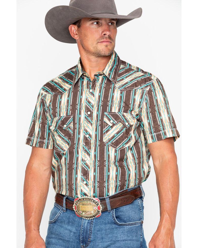 50e69d0180f Rock   Roll Cowboy Poplin Aztec Print Short Sleeve Shirt