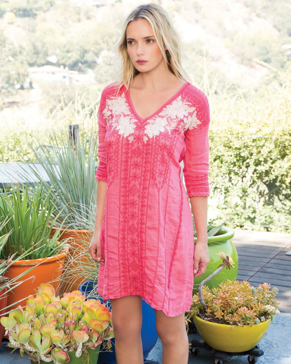 Johnny Was Women's Coral Kai Handkerchief Long Tunic , , hi-res