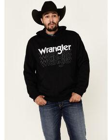 Wrangler Men's Black Stacked Logo Graphic Hooded Sweatshirt , Black, hi-res