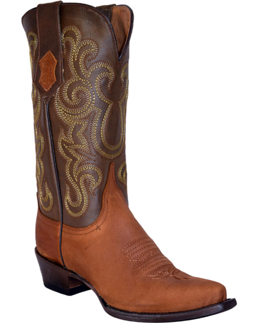 Ferrini Women's Brown French Calf Cowgirl Boots - Snip Toe, Brown, hi-res
