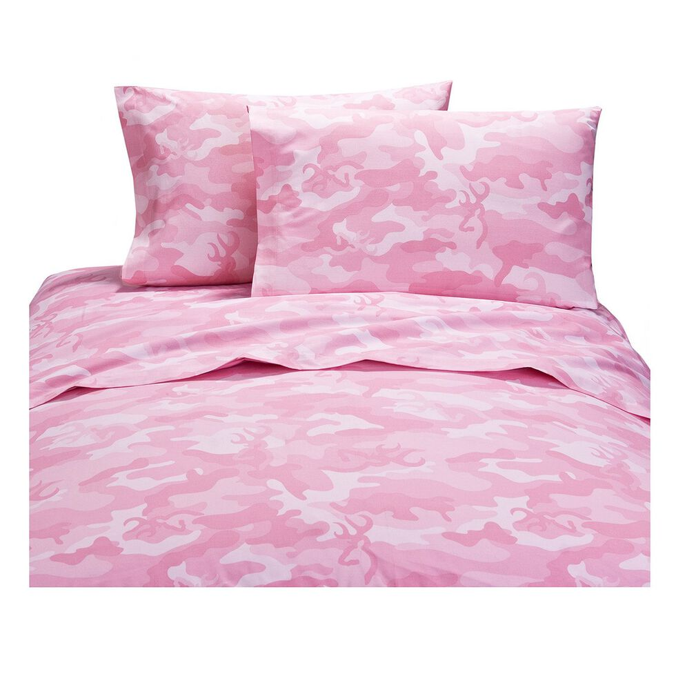Browning Buckcamo Pink Twin Sheet Set, Pink, hi-res