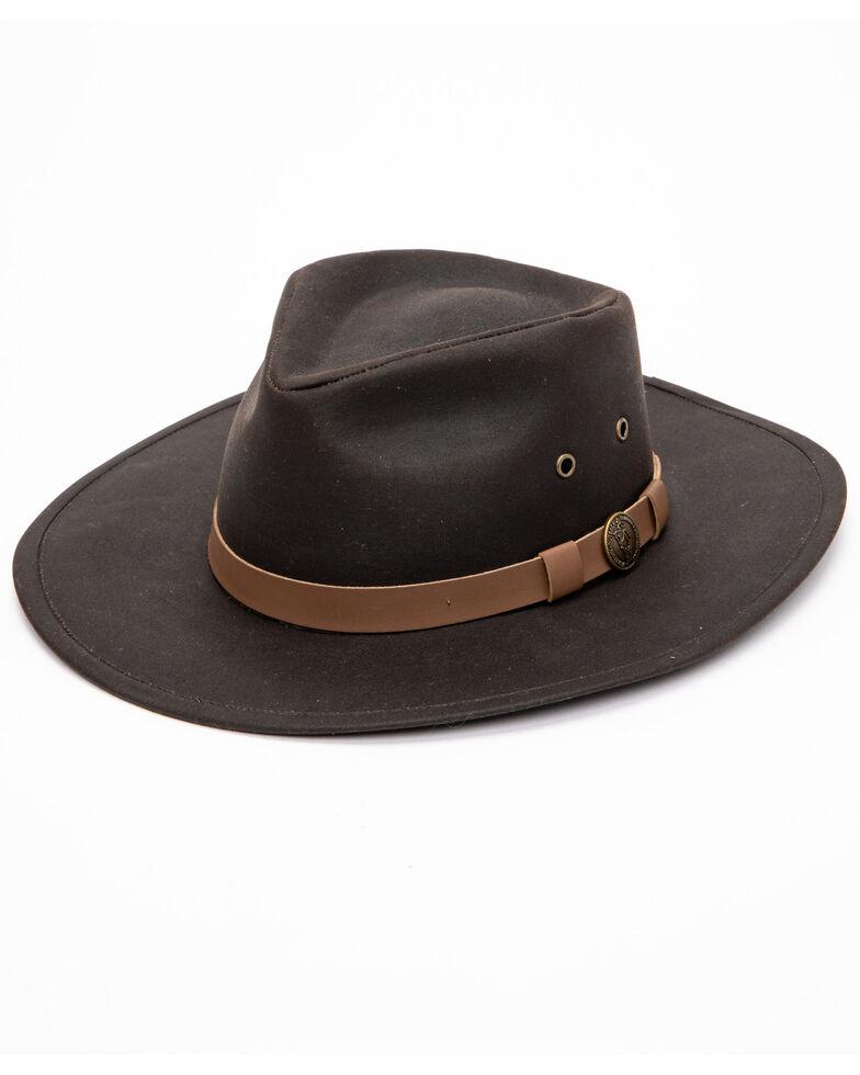 Outback Trading Co. Kodiak Oilskin Hat, Brown, hi-res
