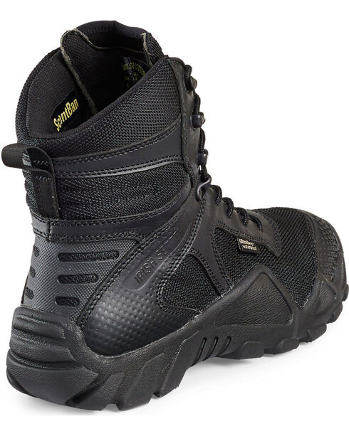 "Red Wing Irish Setter Men's Black Vaprtrek 8"" Waterproof Boots - Soft Round Toe , Black, hi-res"