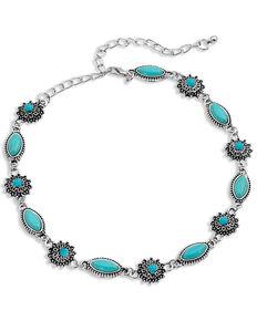 Montana Silversmiths Women's Turquoise Filigree Choker Necklace, Silver, hi-res