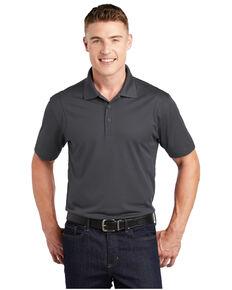 Sport Tek Men's Micro Sport Wick Short Sleeve Polo Work Shirt - Tall , Grey, hi-res