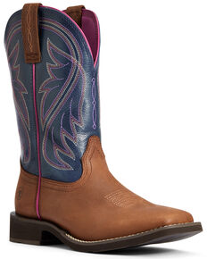 Ariat Women's Toffee Azalea Western Boots - Wide Square Toe, Brown, hi-res