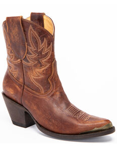 Idyllwind Women's Wheels Brown Western Booties - Pointed Toe, Brown, hi-res