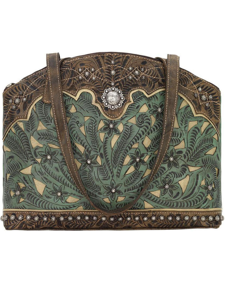 American West Women's Annie's Conceal Carry Half Moon Purse , Turquoise, hi-res