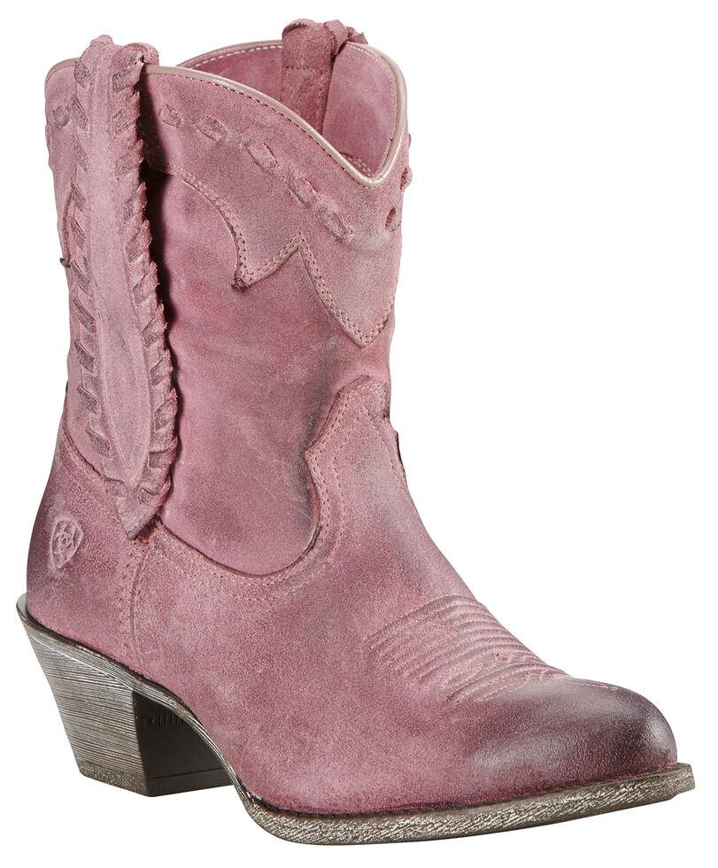 Ariat Relaxed Bark Women's Round Up Rianda Boots - Medium Toe, Pink, hi-res