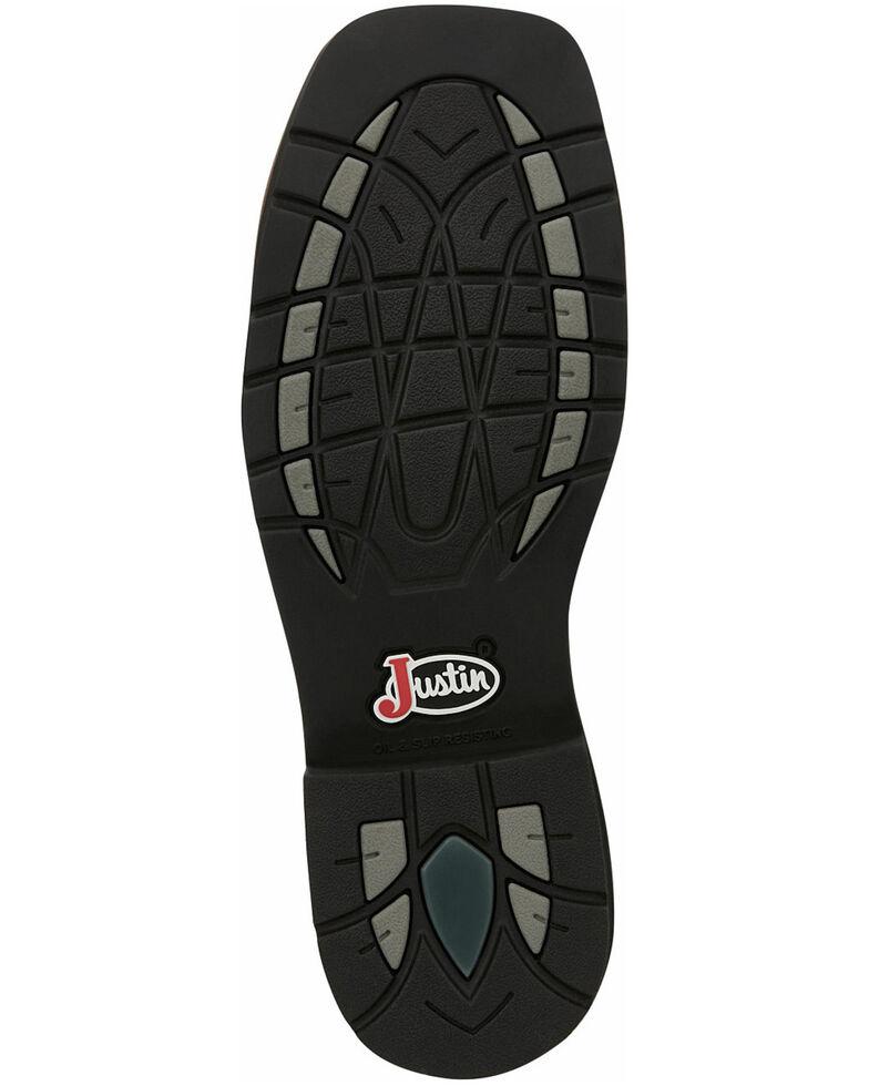 Justin Men's Trekker Waterproof Western Work Boots - Composite Toe, Camouflage, hi-res