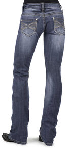 Stetson Women's 818 Contemporary X-Stitch Boot Cut Jeans, Denim, hi-res