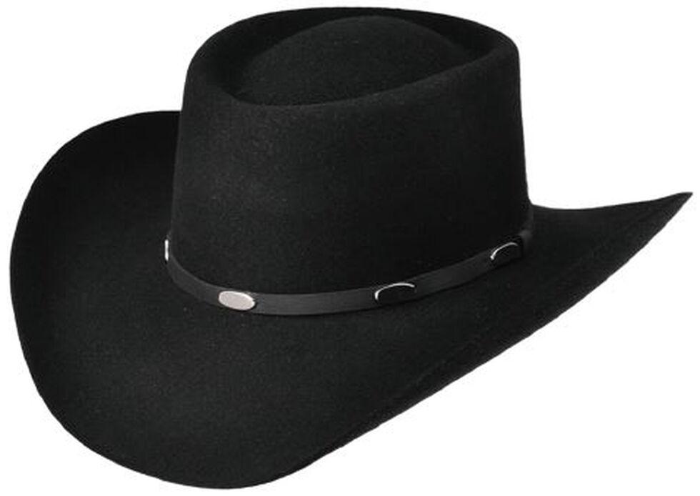 Master Hatters Men's Black Hold Em Gambler 3X Felt Hat, Black, hi-res
