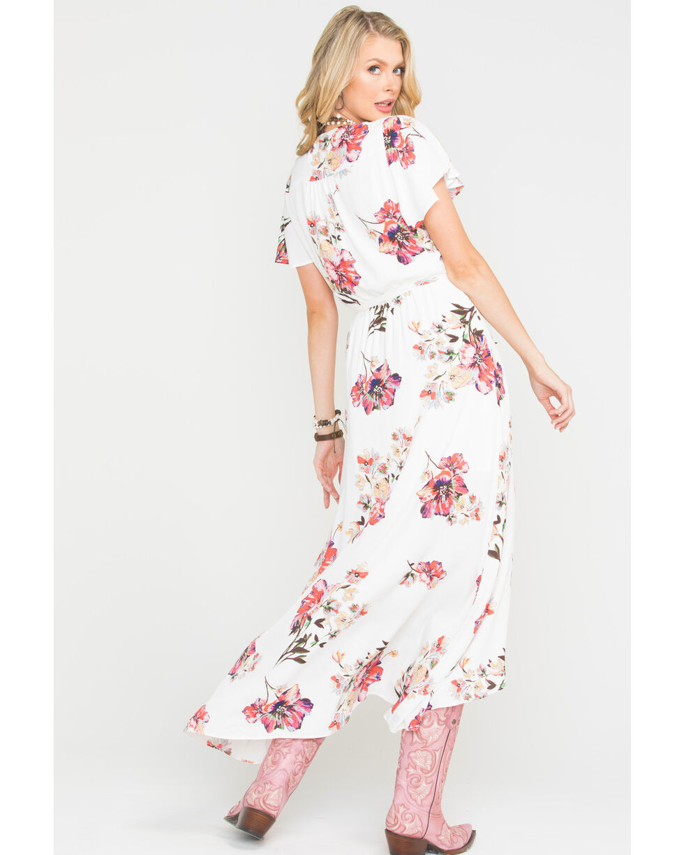 Miss Me Women's Growing On Me Maxi Dress , Ivory, hi-res