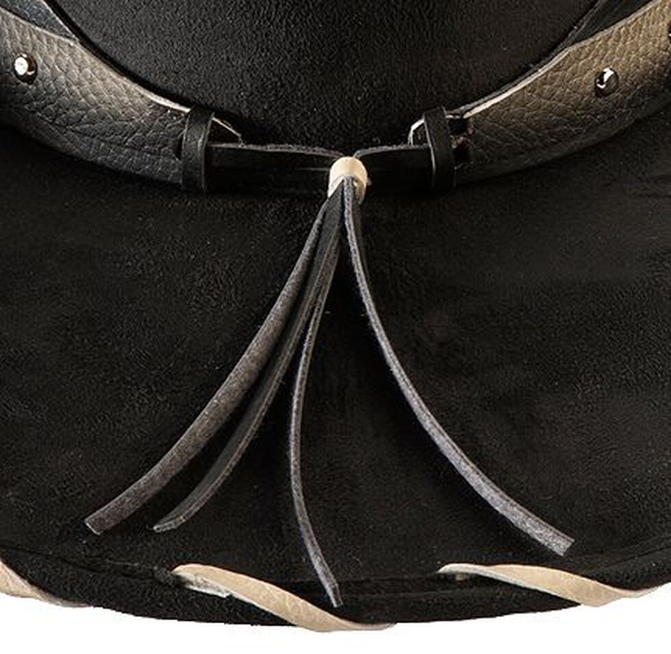Bullhide Straight Shooter Faux Felt Cowgirl Hat, Black, hi-res