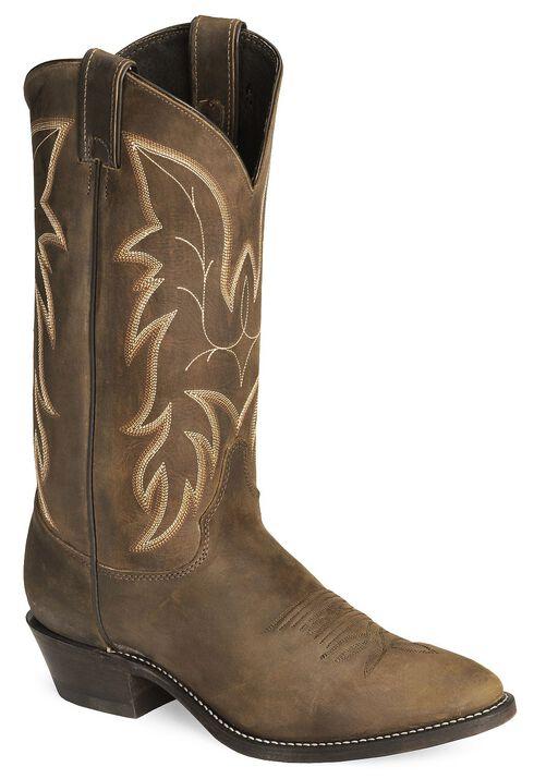 Justin Bay Apache Basic Western Cowboy Boots - Medium Toe, Bay Apache, hi-res