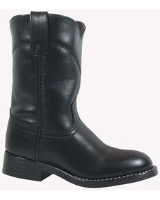 Smoky Mountain Youth Boys' Roper Western Boots - Round Toe, Black, hi-res