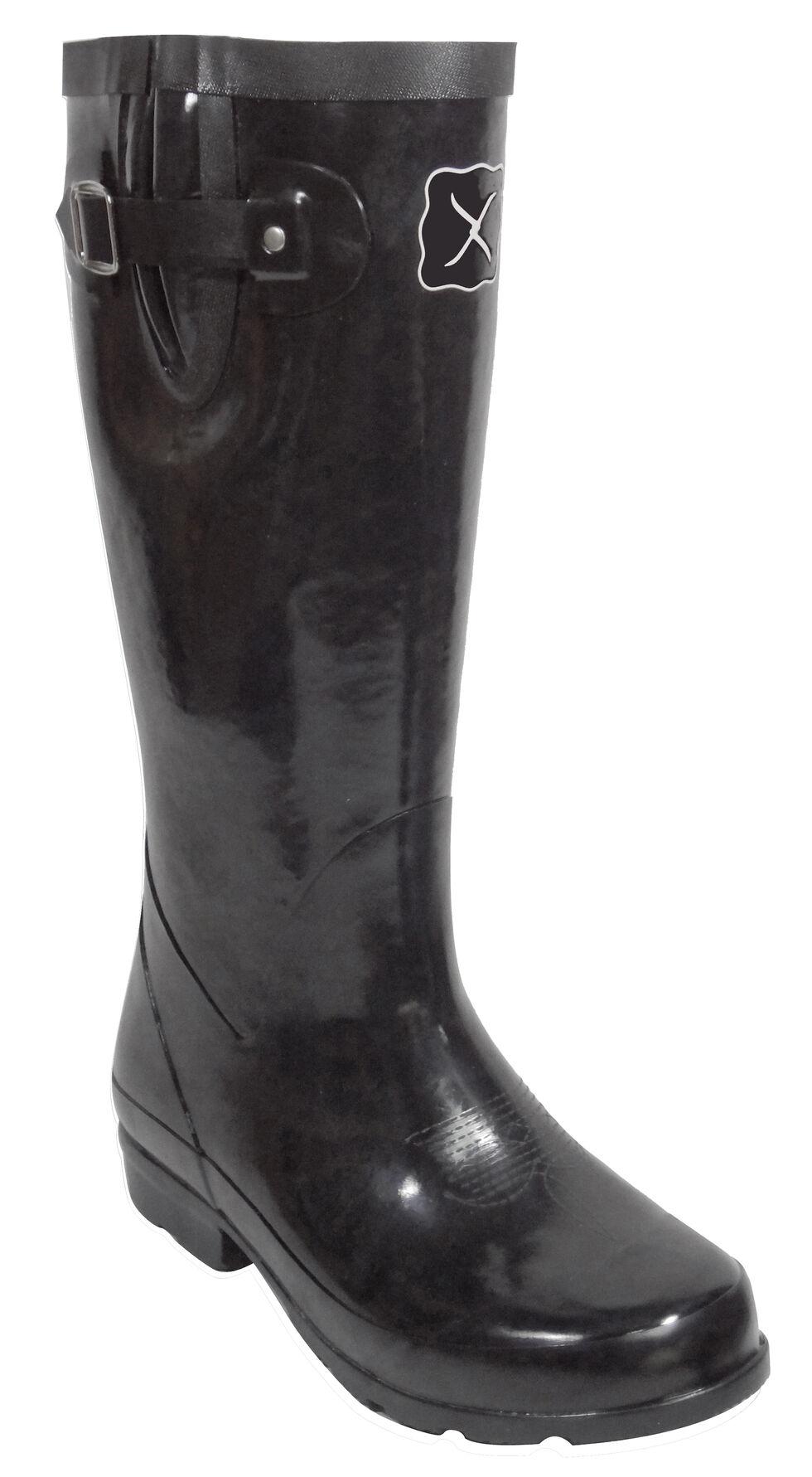 Twisted X Women's Black Mud Boots, Black, hi-res