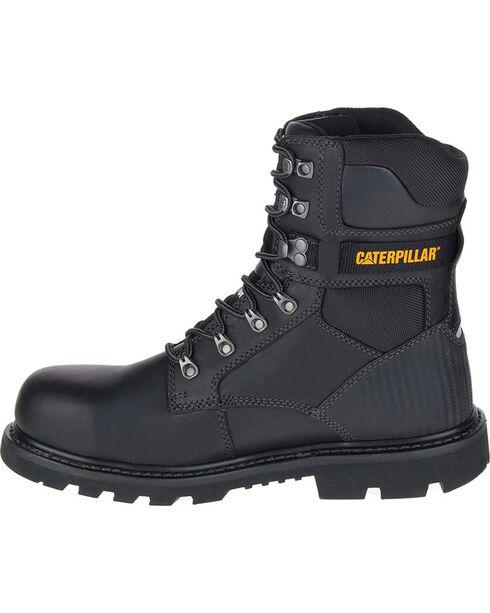 "Caterpillar Men's Black Indiana 8"" Work Boots - Steel Toe , Black, hi-res"