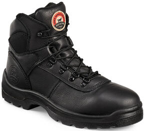 """Irish Setter by Red Wing Shoes Men's Ely 6"""" EH Work Boots - Steel Toe, Black, hi-res"""