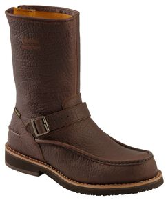 Chippewa Waterproof Bison Zip-up Harness Boots - Moc Toe, Briar, hi-res