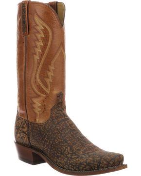Lucchese Men's Handmade Creighton Cognac Elephant Cowboy Boots - Snip Toe, Cognac, hi-res