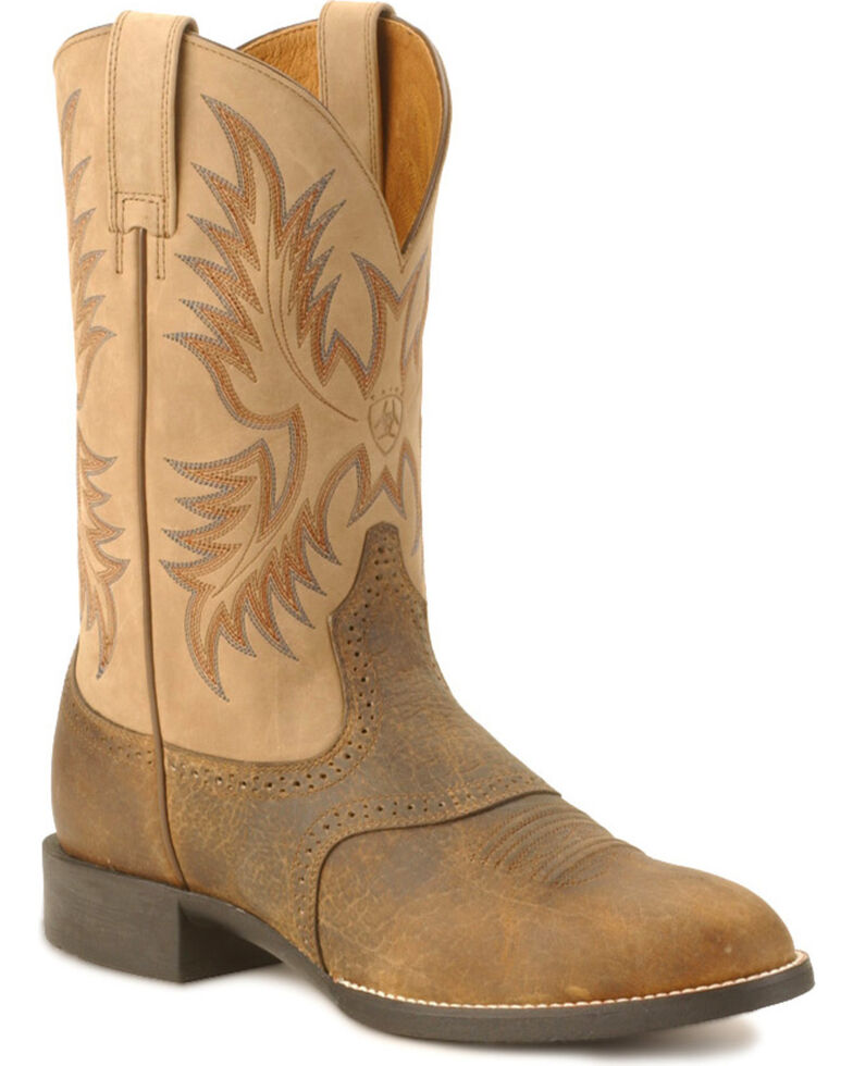 Ariat Heritage Stockman Boots       Brown       hires