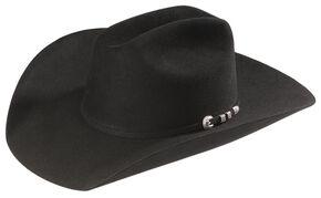 Stetson 6X Bar None Fur Felt Western Hat, Black, hi-res