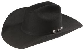 Stetson 6X Bar None Fur Felt Western Hat, Black, hi-res