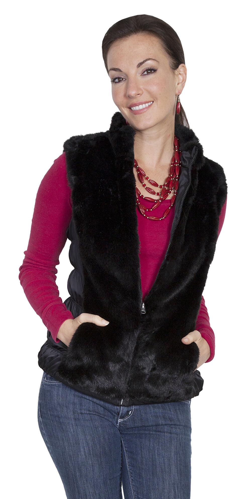 Scully Honey Creek Reversible Faux Fur Vest, Black, hi-res
