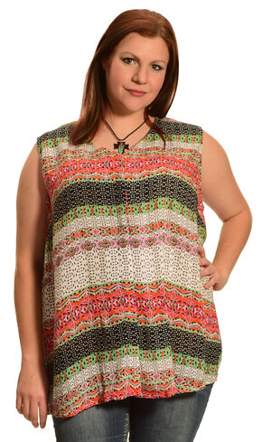New Direction Sport Women's Sleeveless Print Shirt - Plus Size, Multi, hi-res