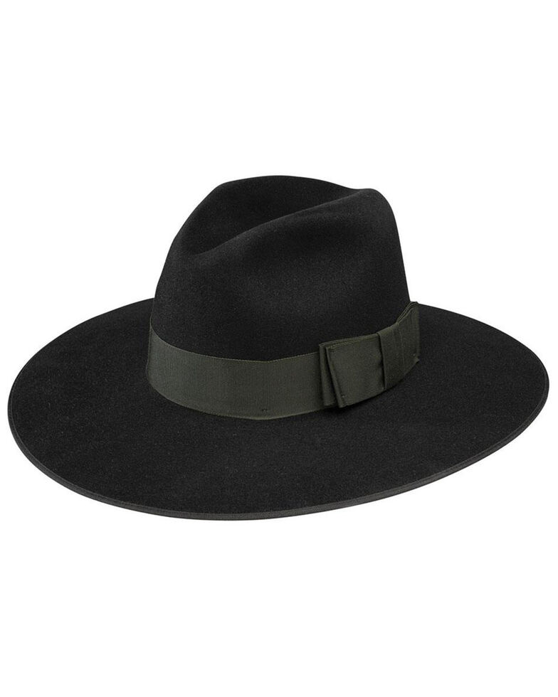 Stetson Black Tri-City Fur Felt Western Hat , Black, hi-res