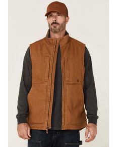 Hawx Men's Rust Copper Browder Weathered Duck Zip-Front Insulated Work Vest , Rust Copper, hi-res