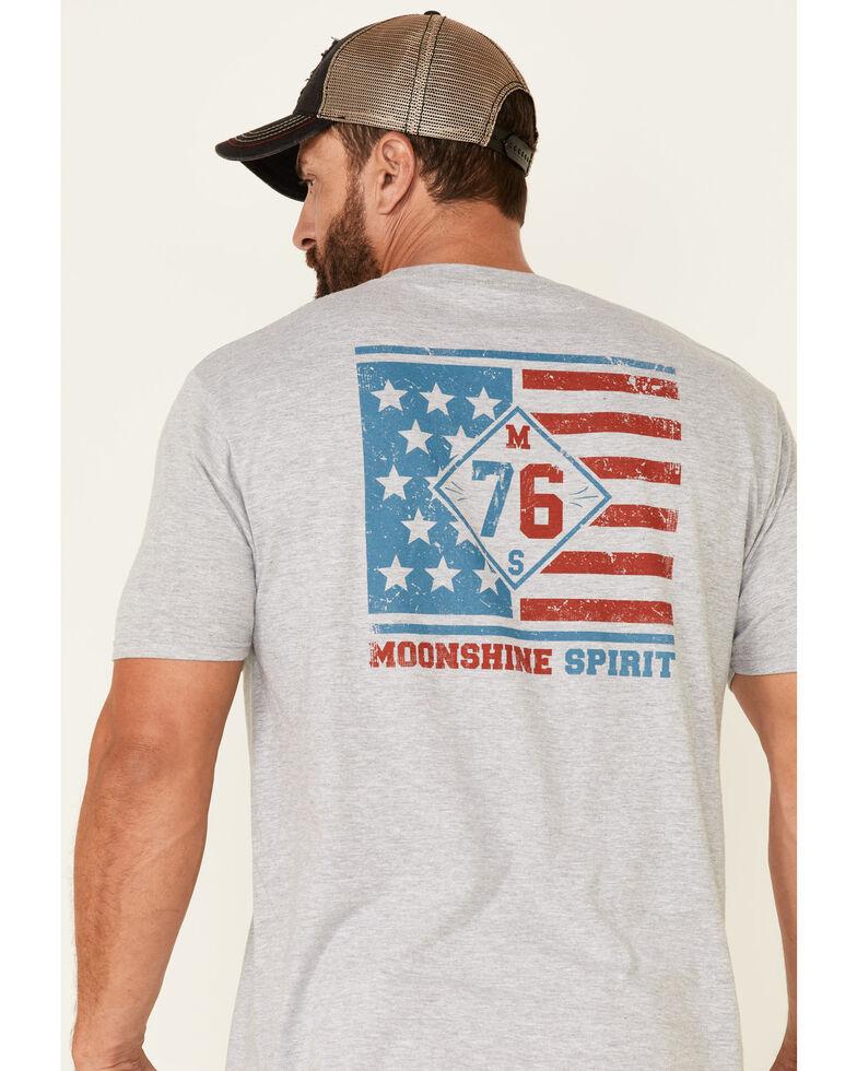 Moonshine Spirt Men's Grey Shine On 76 Graphic Short Sleeve T-Shirt , Grey, hi-res