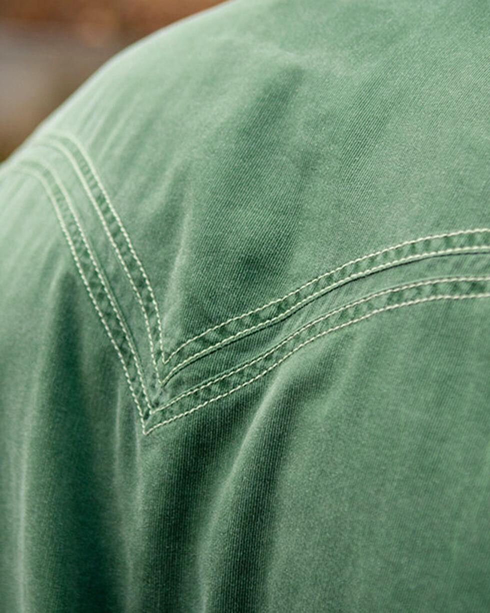 Ryan Michael Men's Green Textured Stripe Shirt , Green, hi-res